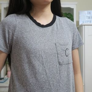 Urban Outfitters Gray Ringer Tee